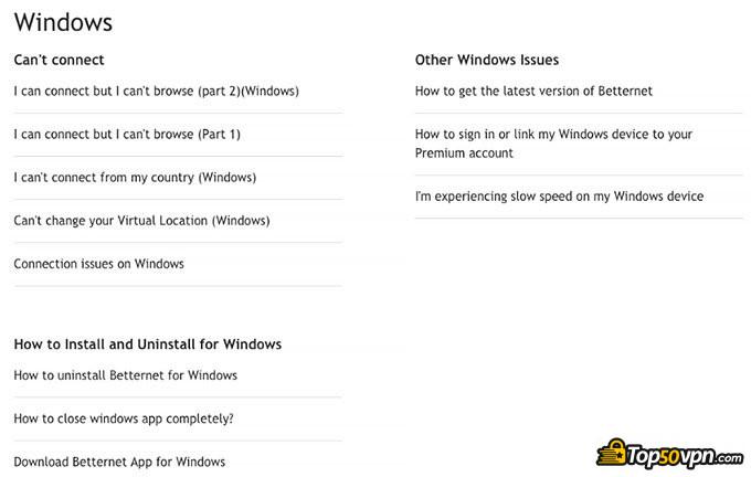 Betternet отзывы: Примеры вопросов, которые задают пользователи Windows.